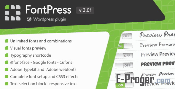 FontPress v3.01 – менеджер шрифтов для WordPress