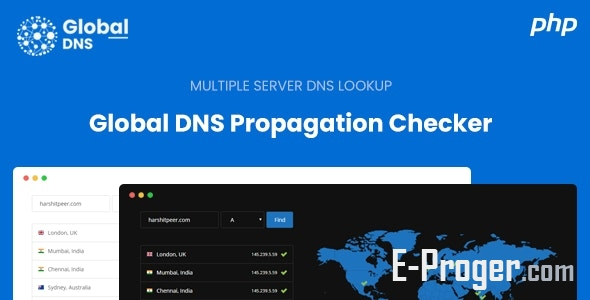 Global DNS - Multiple Server - DNS чекер