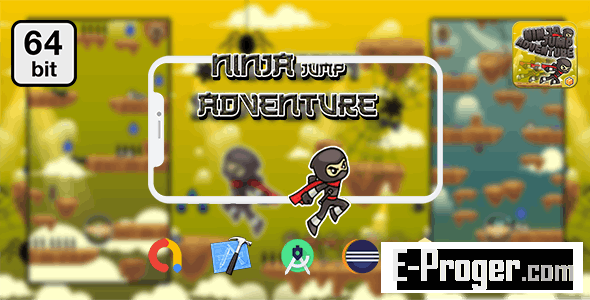 Ninja Jump Adventure 64 bit v1.0 – Android IOS With Admob